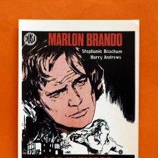 Cine: FOLLETO DE MANO MODERNO - LOS ULTIMOS JUEGOS PROHIBIDOS - MARLON BRANDO - GRAFICAS MARFIL - . Lote 48953113