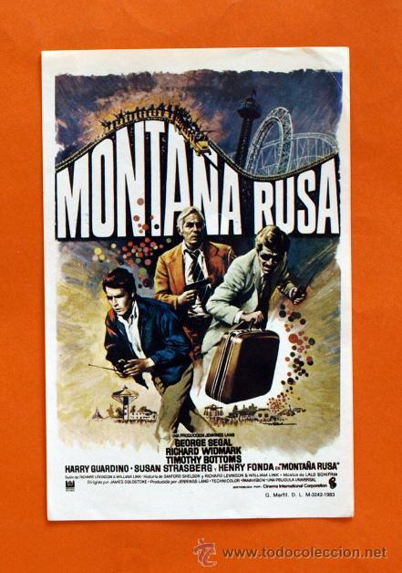 FOLLETO DE MANO MODERNO - MONTAÑA RUSA - GEORGE SEGAL - GRAFICAS MARFIL - (Cine - Folletos de Mano - Acción)