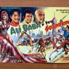 Cine: ALÍ BABA Y LOS 40 LADRONES - MARÍA MONTEZ, JON HALL, TURHAN BEY - CON PUBLICIDAD. Lote 48957487