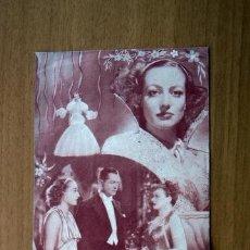 Cine: CUANDO EL DIABLO ASOMA - JOAN CRAWFORD, CLARK GABLE - CON PUBLICIDAD. Lote 48961541