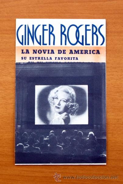 EN PERSONA - GINGER ROGERS, GEORGE BRENT - CON PUBLICIDAD (Cine - Folletos de Mano - Comedia)