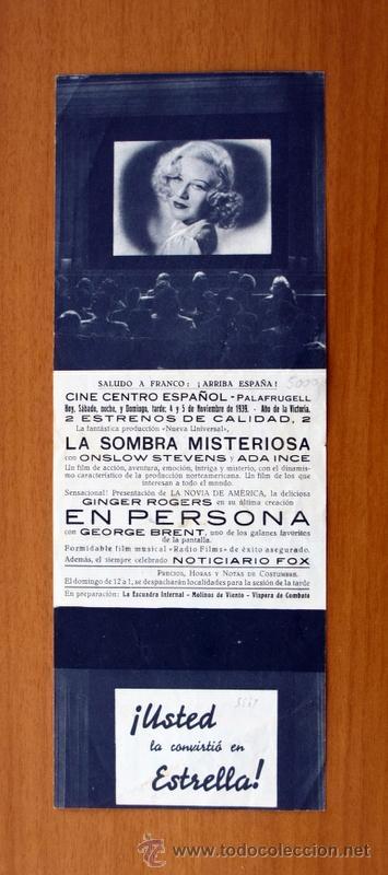 Cine: En persona - Ginger Rogers, George Brent - Con publicidad - Foto 3 - 48980636