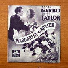 Cine: MARGARITA GAUTIER - GRETA GARBO, ROBERT TAYLOR - CON PUBLICIDAD. Lote 49009304
