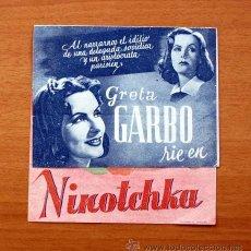 Cine: NINOTCHKA - GRETA GARBO, MELVYN DOUGLAS - CON PUBLICIDAD. Lote 49012487