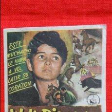 Cine: PABLITO Y YO, SENCILLO 1958, PEDRO ARMENDARIZ, WALT DISNEY, CON PUBLICIDAD KURSAAL REUS. Lote 49013435
