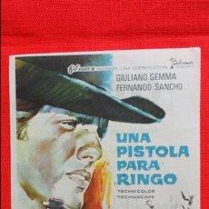 Cine: UNA PISTOLA PARA RINGO, IMPECABLE SENCILLO 1969, GIULIANO GEMMA FERNANDO SANCHO, PUBLICIDAD CAPITOL. Lote 49015013