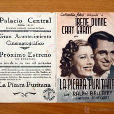 Cine: LA PÍCARA PURITANA - IRENE DUNNE, CARY GRANT - CON PUBLICIDAD. Lote 49088475