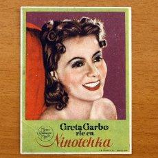 Cine: NINOTCHKA - GRETA GARBO, MELVYN DOUGLAS - CON PUBLICIDAD. Lote 49092944