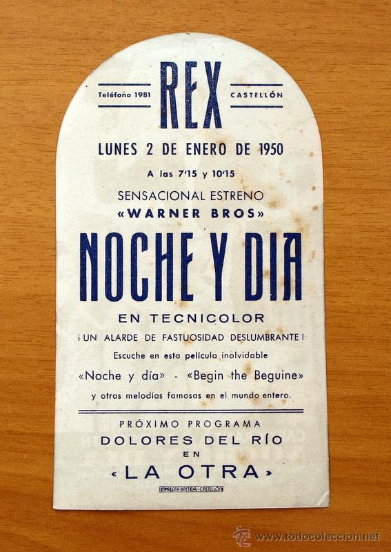 Cine: Noche y día - Cary Grant, Alexis Smith - Programa troquelado - Con publicidad - Foto 2 - 49125558