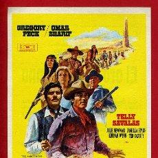 Cine: EL ORO DE MACKENNA , SENCILLO , ORIGINAL CON CINE DE VITORIA ALAVA , PMD 782. Lote 206318567