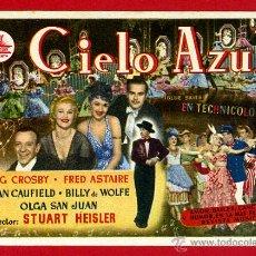 Foglietti di film di film antichi di cinema: CIELO AZUL , SENCILLO , ORIGINAL , PMD 801. Lote 58148005