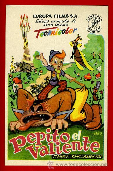 PEPITO EL VALIENTE , SENCILLO , ORIGINAL , PMD 812 (Cine - Folletos de Mano - Infantil)