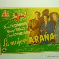 Cine: PROGRAMA LA MUJER ARAÑA-BASIL RATHBONE. Lote 189655487