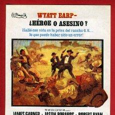 Cine: LA HORA DE LAS PISTOLAS , SENCILLO , CON CINE DE VITORIA , ALAVA , 1968ORIGINAL , PMD 893. Lote 206317787