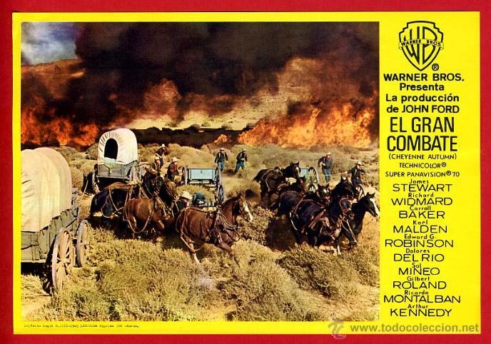 EL GRAN COMBATE , SENCILLO GRANDE , CON CINE GASTEIZ ALAVA , ORIGINAL , PMD 915 (Cine - Folletos de Mano - Westerns)