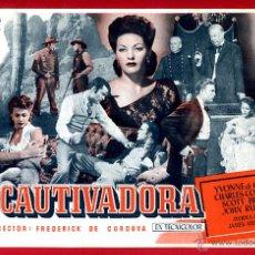 Cine: LA CAUTIVADORA , SENCILLO GRANDE , ORIGINAL , PMD 939. Lote 294167188