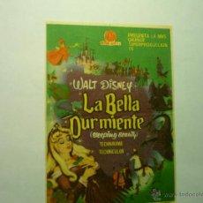 Cine: PROGRAMA LA BELLA DURMIENTE.- DISNET .-PUBLICIDAD. Lote 49232374