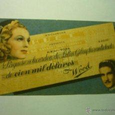 Cine: PROGRAMA CIEN MIL DOLARES- AMADEO NAZZARI-PUBLICIDAD VIÑES-GRANADOS -LERIDA. Lote 186120515