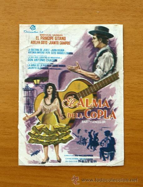 El Alma De La Copla Enrique Vargas El Princi Comprar Clasico Español Folletos De Mano De Películas Antiguas De Cine En Todocoleccion 13349882