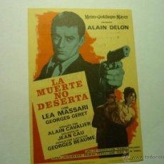 Cine: PROGRAMA LA MUERTE NO DESERTA-ALAIN DELON -PUBLICIDAD. Lote 49267623