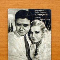 Cine: EL DESQUITE - RICHARD DIX, MADGE EVANS - CON SELLO DEL GRAN CINE RIVEIRA. Lote 1186382