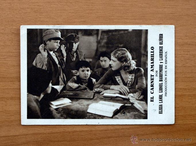 EL CARNET AMARILLO - ELISSA LANDI, LIONEL BARRYMORE, LAURENCE OLIVIER -PUBLICIDAD GRAN TEATRO-ALCIRA (Cine - Folletos de Mano - Comedia)