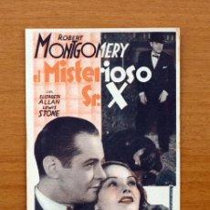 Cine: EL MISTERIOSO SEÑOR X - ROBERT MONTGOMERY - PUBLICIDAD TEATRO ESPAÑOL - ALGEMESI. Lote 12741241
