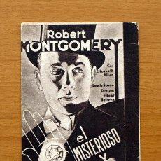 Cine: EL MISTERIOSO SEÑOR X - ROBERT MONTGOMERY. Lote 1422873