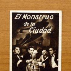 Cine: EL MONSTRUO DE LA CIUDAD - WALTER HUSTON, JEAN HARLOW - PUBLICIDAD GRAN TEATRO - ALCIRA. Lote 25757548