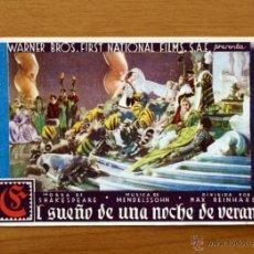 Cine: EL SUEÑO DE UNA NOCHE DE VERANO - ROSS ALEXANDER, DICK POWELL, JEAN MUIR. Lote 14701281