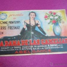 Cine: LA DAMA DE LAS CAMELIAS PROGRAMA DE CINE DOBLE AÑOS 30 C2. Lote 49306947