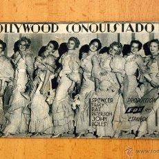 Cine: HOLLYWOOD CONQUISTADO - SPENCER TRACY - PUBLICIDAD GRAN TEATRO. Lote 12475879