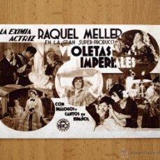 Cine: VIOLETAS IMPERIALES - RAQUEL MELLER - PELICULA DE 1932 - PUBLICIDAD CINE VOLGA. Lote 27637692