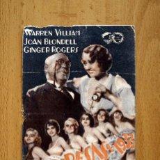 Cine: VAMPIRESAS 1933 - WARREN VILLIAM, JOAN BLONDELL - PUBLICIDAD TEATRO ESPAÑOL - ALGEMESI. Lote 13436189