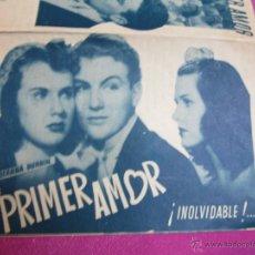 Cine: PRIMER AMOR DEANNA DURBIN DE AMANECER PROGRAMA CINE DOBLE C2. Lote 49342936