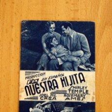 Cine: NUESTRA HIJITA - SHIRLEY TEMPLE, JOEL MCCREA - PUBLICIDAD GRAN TEATRO. Lote 2753273
