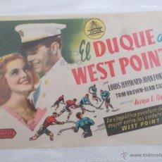 Cine: EL DUQUE DE WEST POINT..SENCILLO SIN PUBLICIDAD . . . Lote 49386202