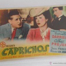 Cine: CAPRICHOS.....SENCILLO SIN PUBLICIDAD . .. Lote 49386372