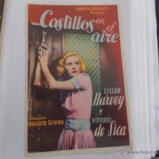Cine: CASTILLOS EN EL AIRE SENCILLO SIN PUBLICIDAD . .. Lote 49386546
