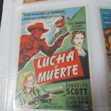 Cine: LUCHA A MUERTE. SENCILLO SIN PUBLICIDAD. . Lote 49413551