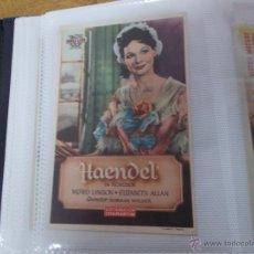 Cine: HAENDEL SENCILLO SIN PUBLICIDAD. . Lote 49413849