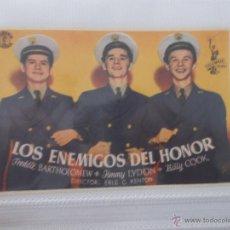 Cine: LOS ENEMIGOS DEL HONOR SENCILLO SIN PUBLICIDAD. . Lote 49434013
