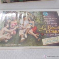 Cine: LA REINA DE COBRA SENCILLO SIN PUBLICIDAD. . Lote 49434384