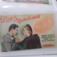 Cine: LAS 5 REVOLTOSAS. SENCILLO SIN PUBLICIDAD. . Lote 49434437