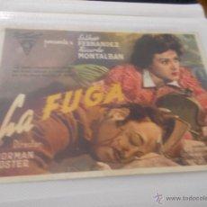 Cine: LA FUGA. SENCILLO SIN PUBLICIDAD. . Lote 49434468