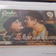Cine: LA MUJER DE LAS DOS CARAS. SENCILLO SIN PUBLICIDAD. . Lote 49434496