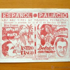 Cine: EL HOMBRE DEL NIGER - EL ASTRO DEL TANGO - ABANDONO - DELATOR ANÓNIMO. Lote 49440055
