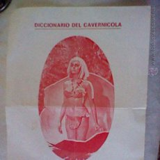 Flyers Publicitaires de films Anciens: HOJA DICCIONARIO DEL CAVERNICOLA DEL FILM CUANDO LOS DINOSAURIOS DOMINABAN LA TIERRA * PAS MAN . Lote 49449605