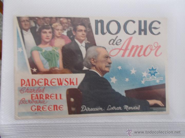 NOCHE DE AMOR SENCILLO SIN PUBLICIDAD . (Cine - Folletos de Mano - Comedia)