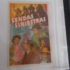 Cine: SENDAS SINIESTRAS SENCILLO SIN PUBLICIDAD. Lote 49484548